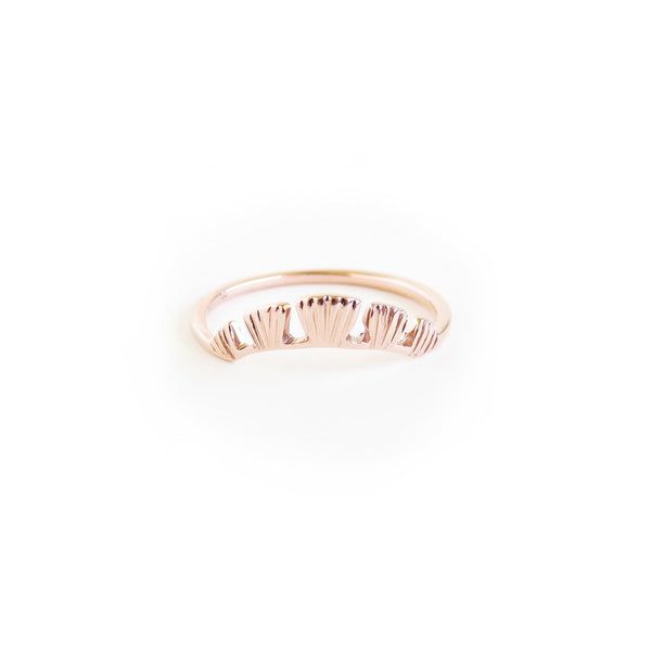 The Coral Ring in Rose Gold