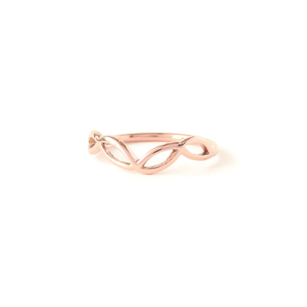The Helix Ring in Rose Gold