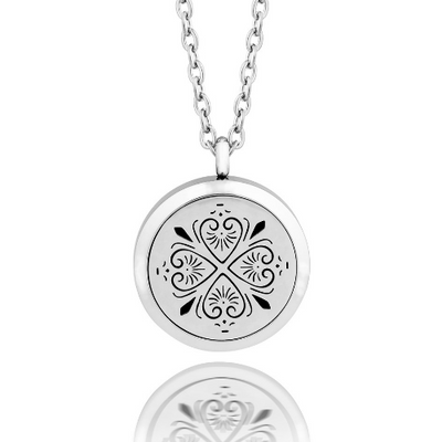 Essential oil diffuser necklace, aromatherapy locket heart