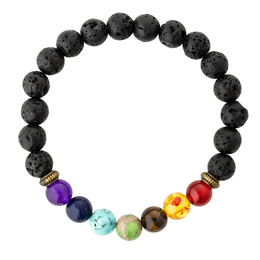 7 chakra essential oil diffuser bracelet.  Aromatherapy jewellery for kids