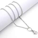 Rollo long drop stainless steel chain.