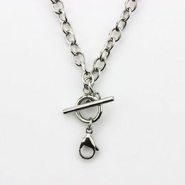 Stainless steel toggle chain 45cm for essential oil locket