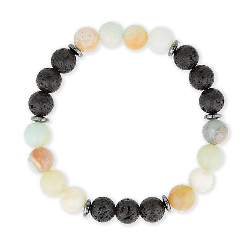 essential oil diffuser bracelet gemstones with amazonite and lava stone aromatherapy bracelet