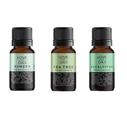 Australian essential oil pack.  Kunzea, Tea Tree and Eucalyptus