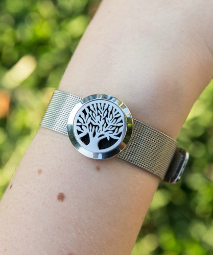 Autumn Stainless steel essential oil diffusing bracelet.