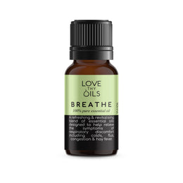 Breathe essential oil blend for coughs and colds. 100% pure essential oil