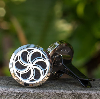 Essential oil car diffuser.  Aromatherapy car clip.