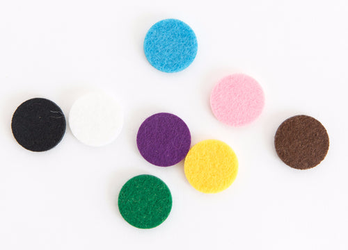 Replacement diffusing pads for 25mm locket assorted colours