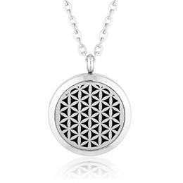 Essential oil diffuser necklace, aromatherapy locket silver diffusing jewellery