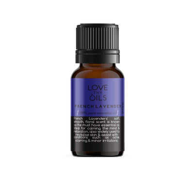 100% Pure Essential Oil French Lavender. Essential oil for calming and sleep.