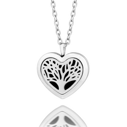 Essential oil diffuser necklace, aromatherapy locket  heart shape