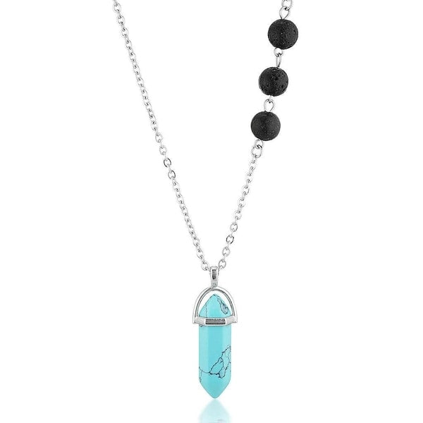 essential oil lava stone diffuser necklace turquoise jewellery