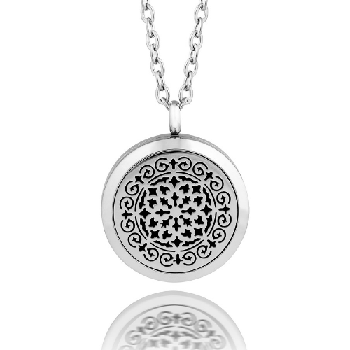 Moroccan design Aromatherapy/Essential Oil Diffuser locket necklace