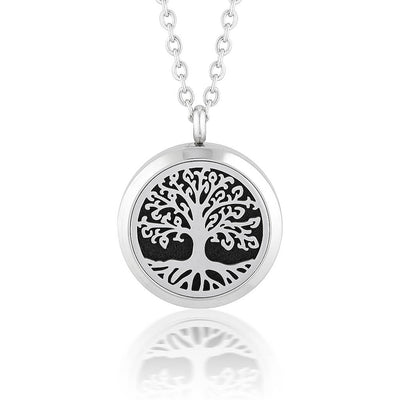Tree of life Aromatherapy/ Essential Oil Diffuser Locket Necklace