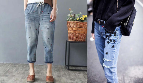 Denim Trends 2019 Embroidered