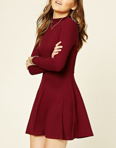 Posh Maroon Sun Dress