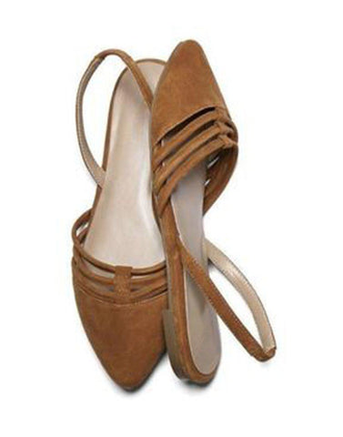 Brown Pointed Toe Ballerina