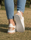 Groovy Floral White Sneakers