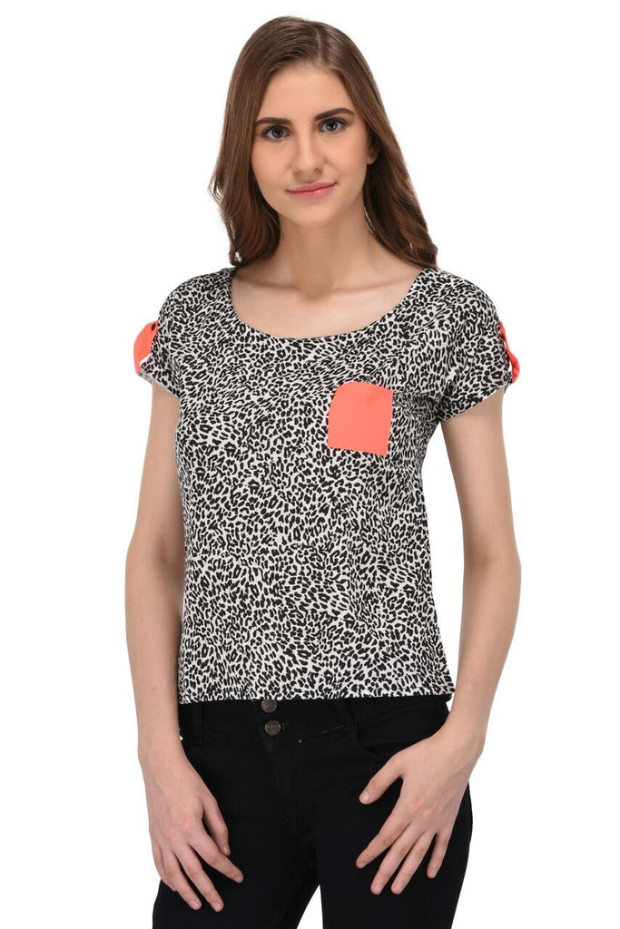 Animal Print Top for Women