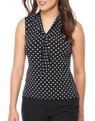 Black Beauty Polka Top
