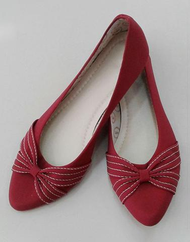 Rustic Red Ballet Flats