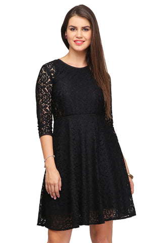 Pull Together A Chic Look Wearing This Black Coloured Dress From The House Of Brahmani Creation. Cra