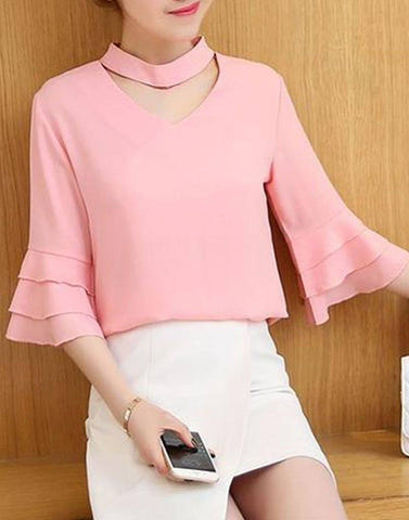 Romantic Ruffle Sleeve Top