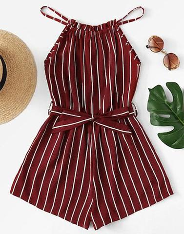 Majestic In Maroon Romper