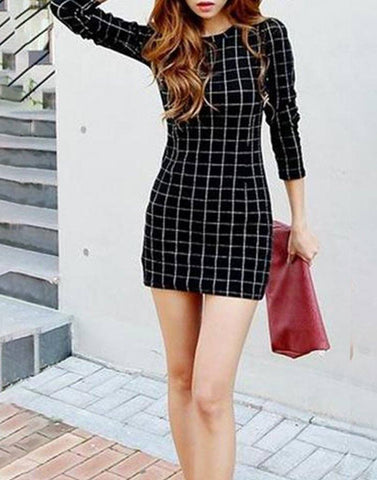 Checker Short Dress