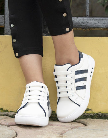 Uber Blue And White Sneakers