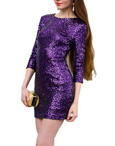 Purple Glitter Bomb Dress