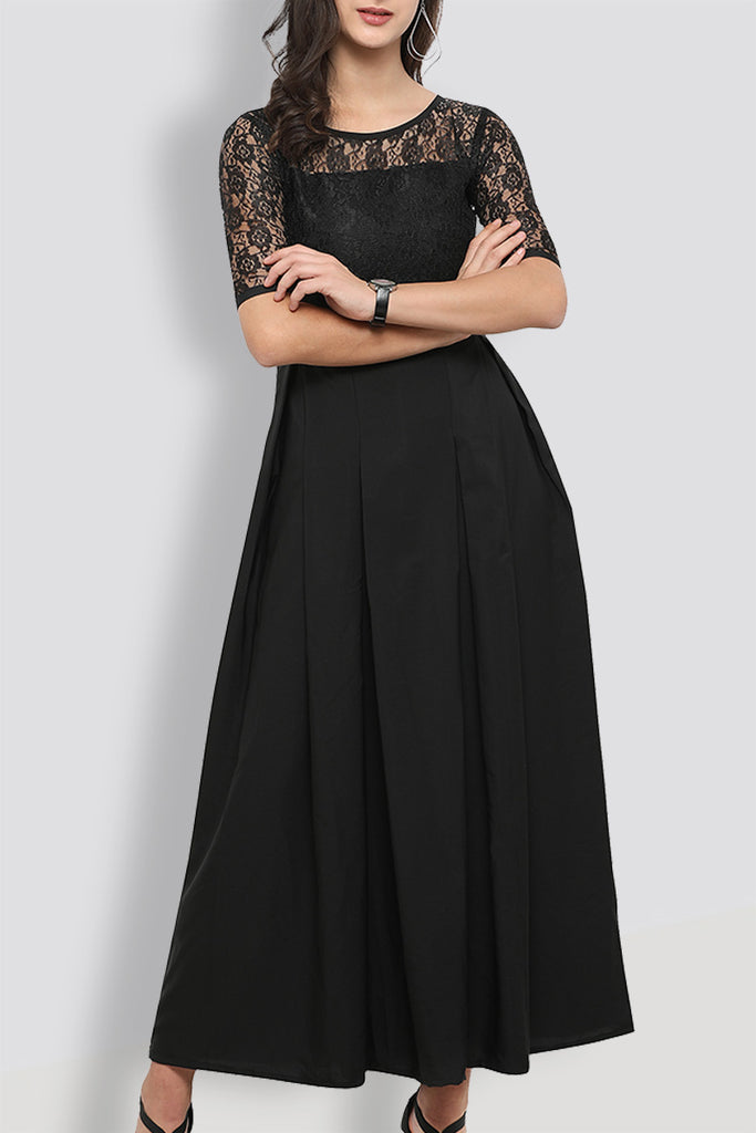 Black lace Lovely Maxi Dress