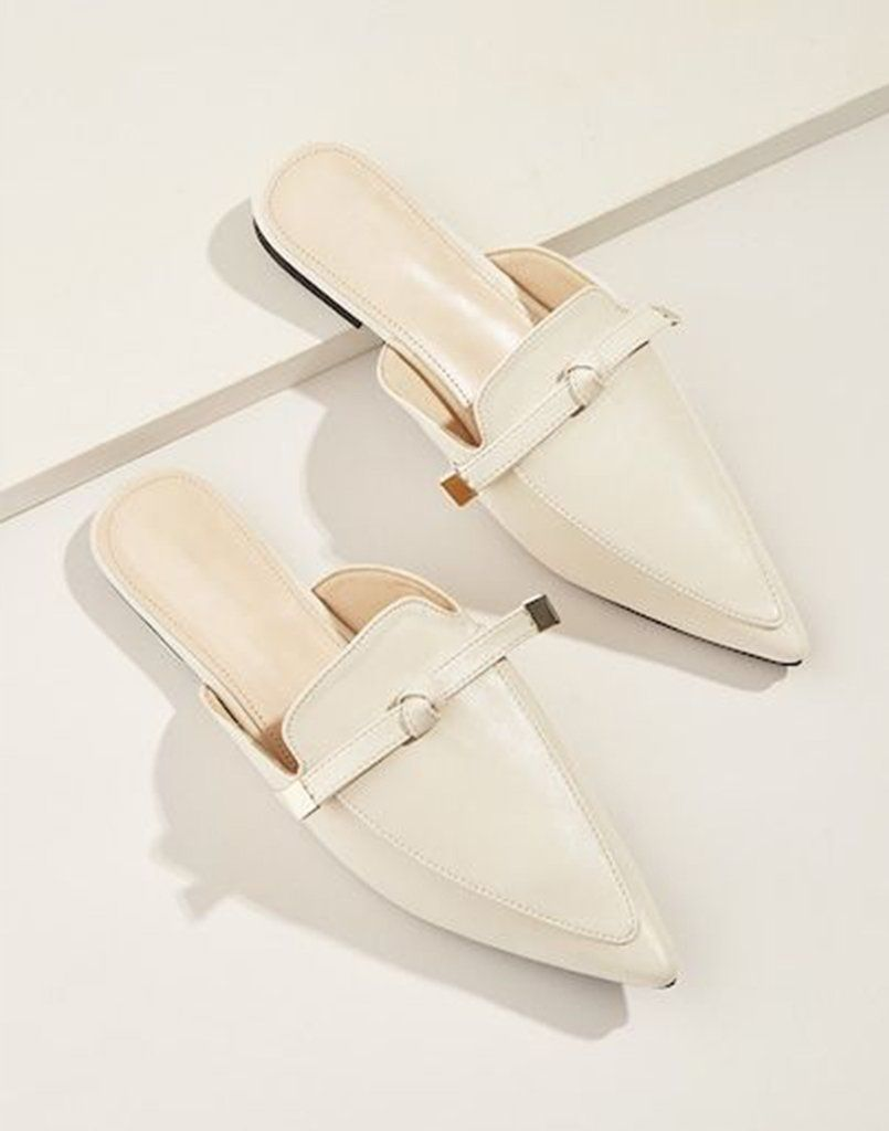 Famously Formal Cream Flats