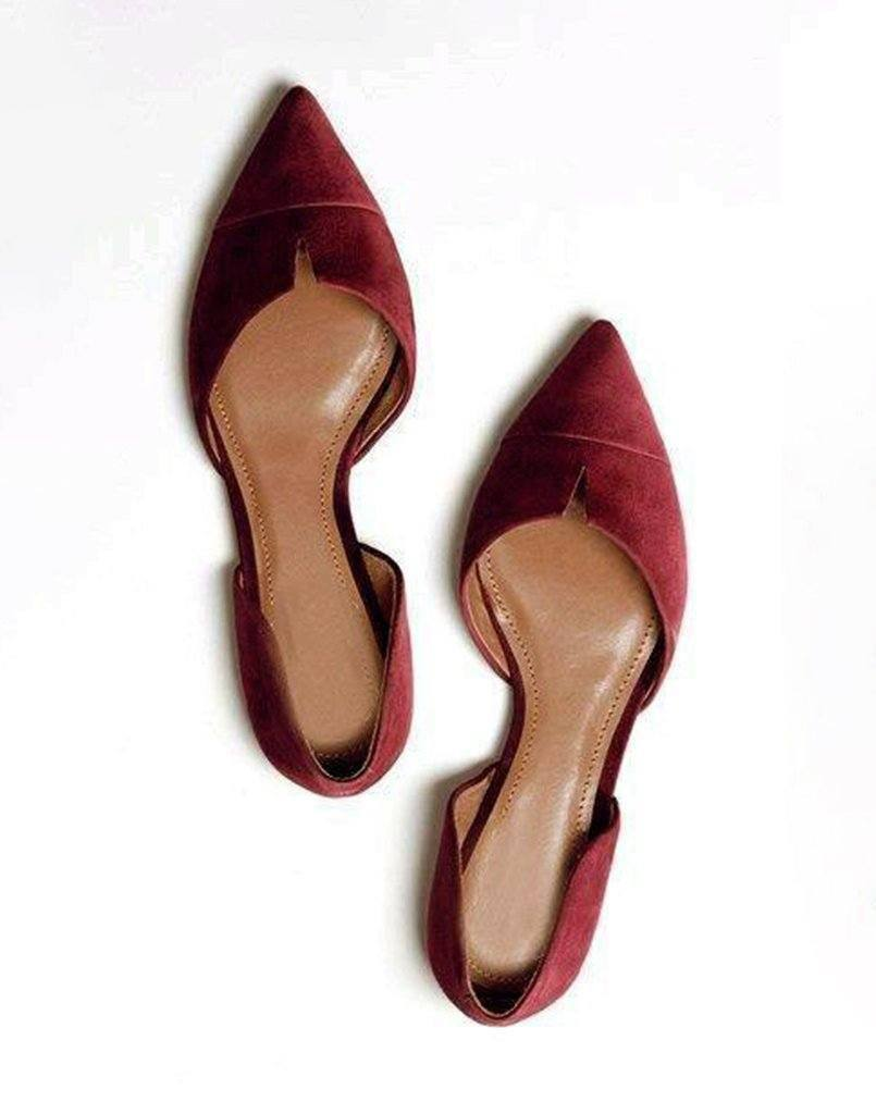 Maroon Pointed Toe Ballerina