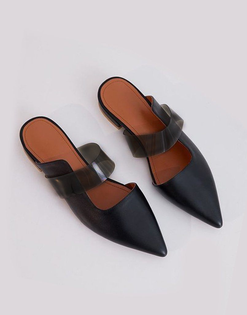Black Cut Out Formal Flats