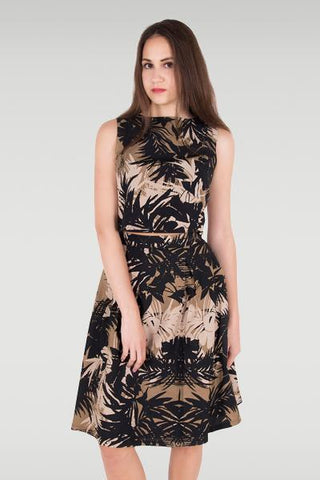 Garden Glow Brown Dress