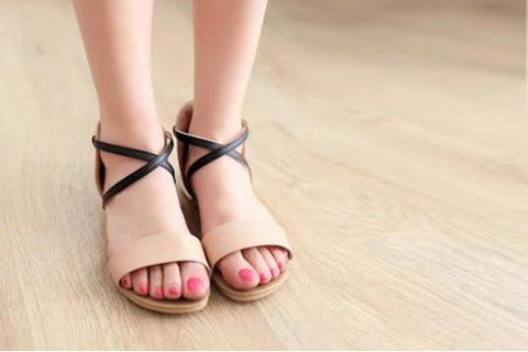 Criss Cross Ankle Flat