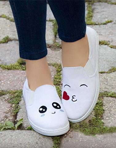 Hugs And Kisses Slip On Sneaker