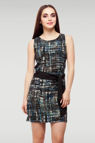 Ribbon Sheath Dress