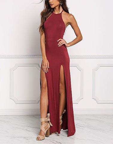 Night Life Maroon Gown