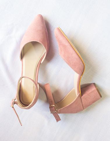Be You Soft Pink Block Heels
