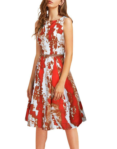 Printed Red Dresses