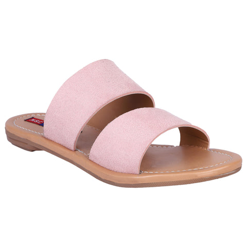 MSC Women Pink Synthetic Stylish Sandals