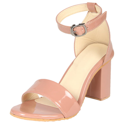 Lency Stylish Block Kitten Pump Heels