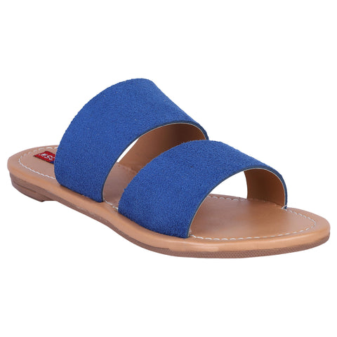 MSC Women Blue Synthetic Stylish Sandals