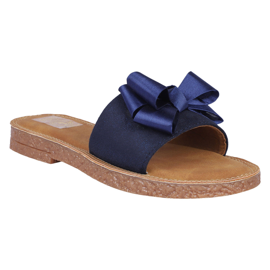 MSC Women Blue Synthetic Crepe Stylish Sandals