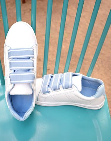 Sporty White & Blue Sneakers