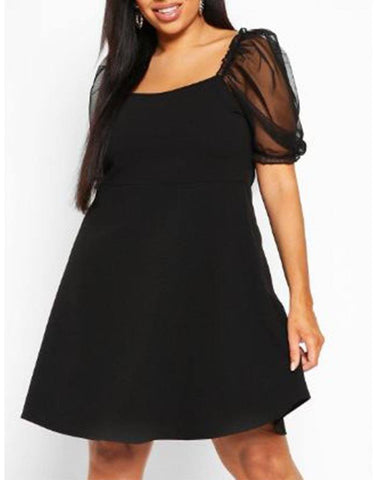 Sheer Drama Black Dress