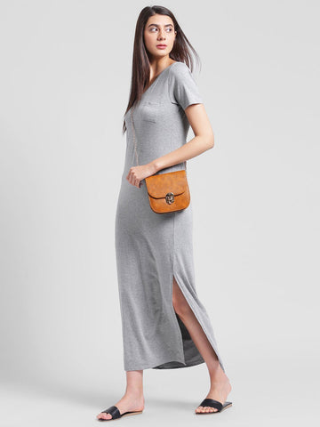 Light Grey Maxi Dress