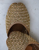 Gold Caged Leather Jutti